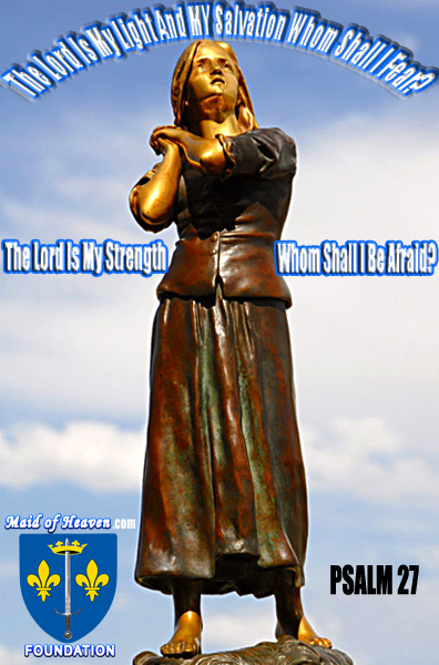 St. Joan of Arc Statue Lord is My Light